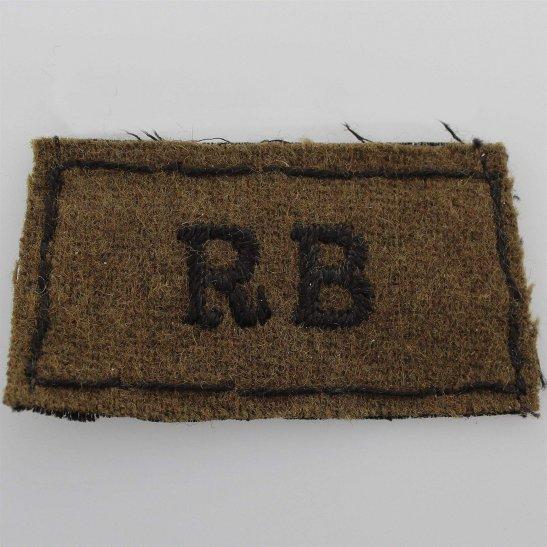 Rifle Brigade WW2 Rifle Brigade Cloth SLIP ON Shoulder Title Badge Flash