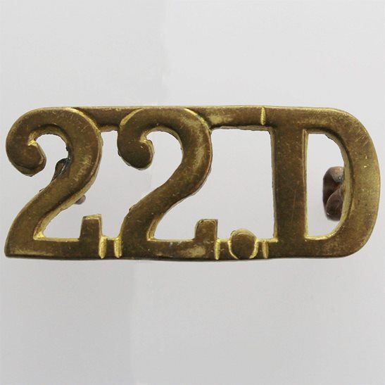 22nd Dragoons WW2 WAR RAISED 22nd Dragoons Regiment Shoulder Title