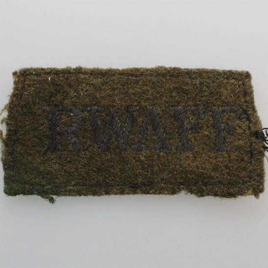 Royal West African Frontier Force RWAFF WW2 Royal West African Frontier Force RWAFF Regiment Cloth SLIP ON Shoulder Title Badge Flash