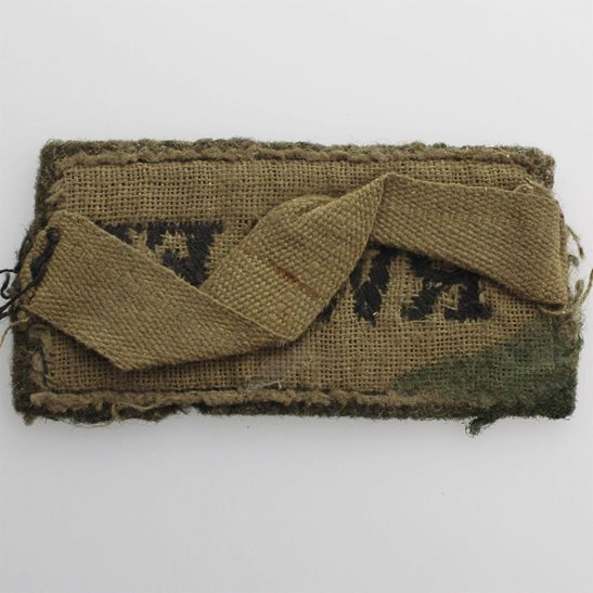 additional image for WW2 Royal West African Frontier Force RWAFF Regiment Cloth SLIP ON Shoulder Title Badge Flash