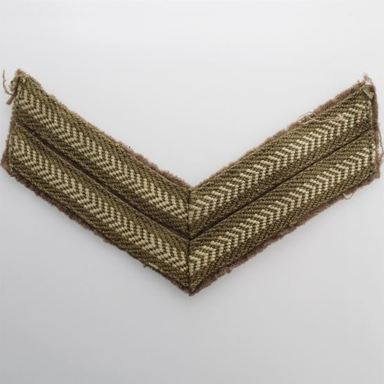 WW2 British Army Corporals Cloth Chevron Insignia Rank Stripes