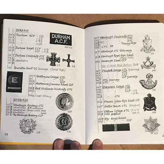 additional image for Officers Training Corps OTC Cap Badges and Shoulder Titles Identification Reference Booklet