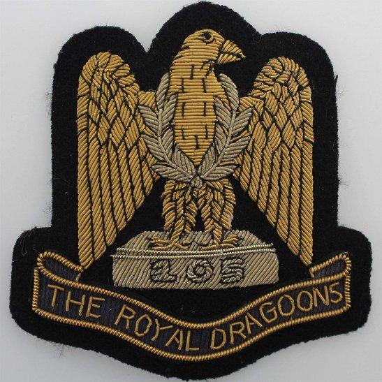1st Royal Dragoons 1st The Royal Dragoons Regiment Cloth Wire BULLION Veterans Blazer Badge