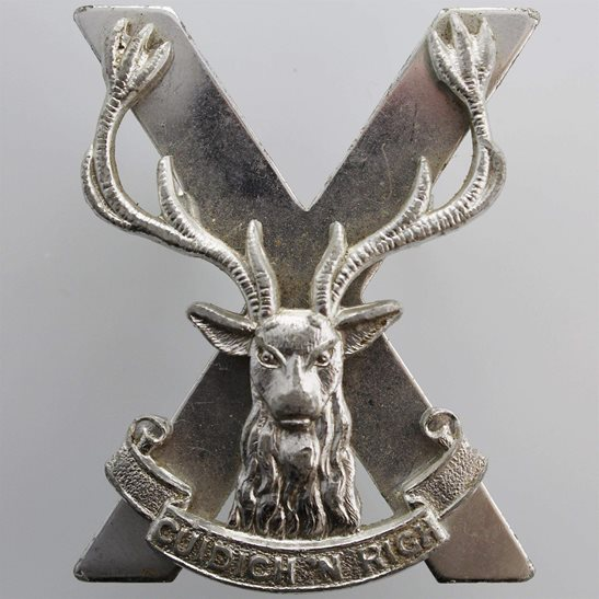 Highland Infantry Brigade Staybrite Anodised Cap Badge - Staybright