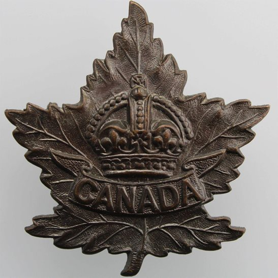 WW2 Canadian Army WW2 Canadian Army Division / Canada Corps CEF Cap Badge