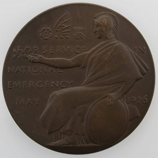 London, Midland and Scottish Railway LMS National Emergency Medal 1926 General Strike Medallion