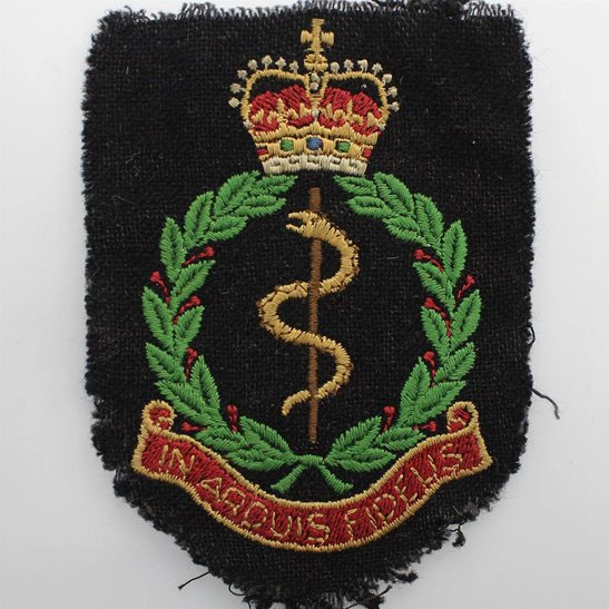 Royal Army Medical Corps RAMC Royal Army Medical Corps RAMC Cloth Veterans Blazer Badge