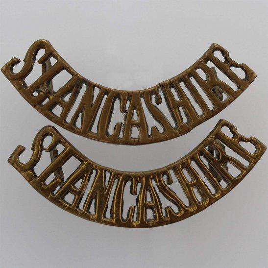 South Lancashire South Lancashire Regiment Shoulder Title PAIR