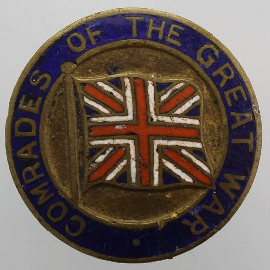 WW1 Old Comrades of the Great War BEF Veterans Lapel Badge