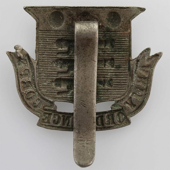 additional image for WW1 Army Ordnance Corps AOC Volunteers WHITE METAL Cap Badge