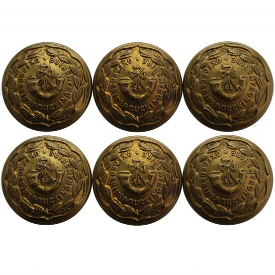 Oxfordshire & Buckinghamshire Light Infantry Group Oxfordshire & Buckinghamshire Light Infantry Regiment Tunic Buttons - 26mm