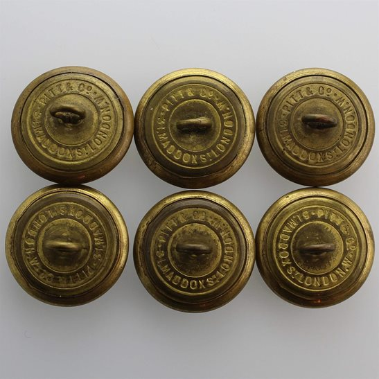 additional image for Group Oxfordshire & Buckinghamshire Light Infantry Regiment Tunic Buttons - 26mm