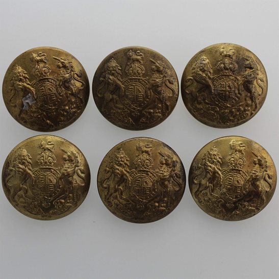 General Service British Army General Service Buttons Set x6 24mm