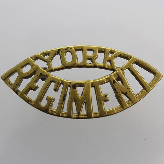 WW2 Canadian Army WW2 York Regiment Of Canada Canadian Shoulder Title