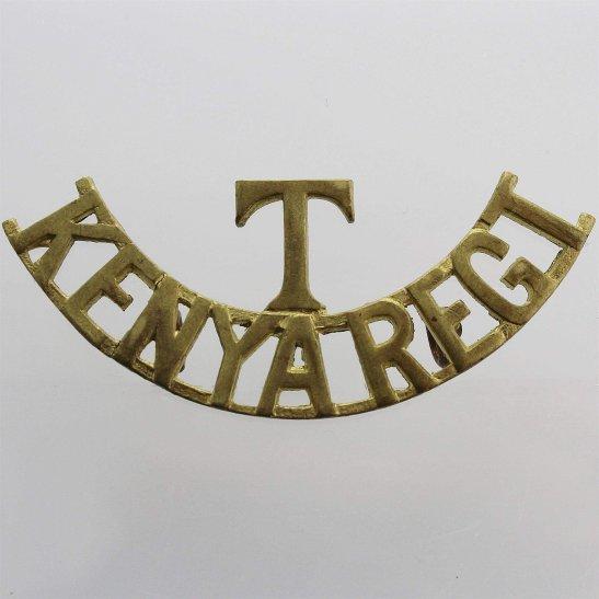 British Colonial Forces Kenya Territorial Regiment British Kenyan Colonial Forces Shoulder Title