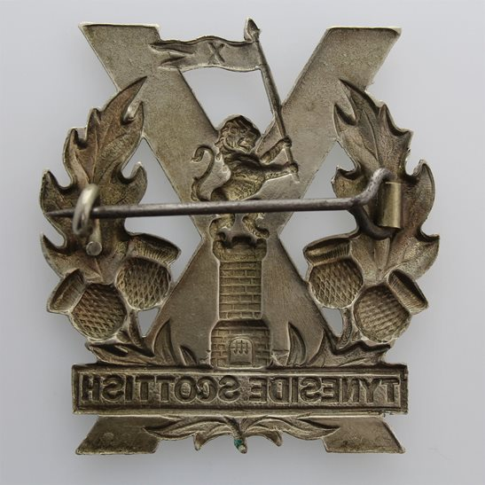 additional image for WW1 Tyneside Scottish Regiment Cap Badge - PIN MECHANISM VERSION
