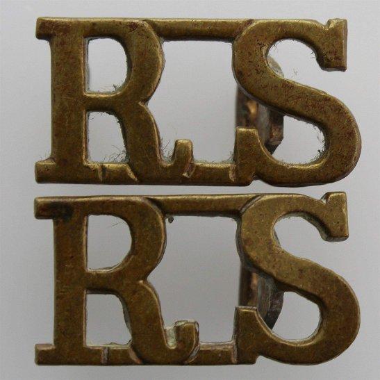 Royal Scots WW1 Royal Scots (Scottish) Regiment Shoulder Title