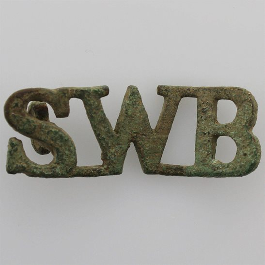 South Wales Borderers UK Dug Detecting Find - South Wales Borderers Regiment Relic Shoulder Title