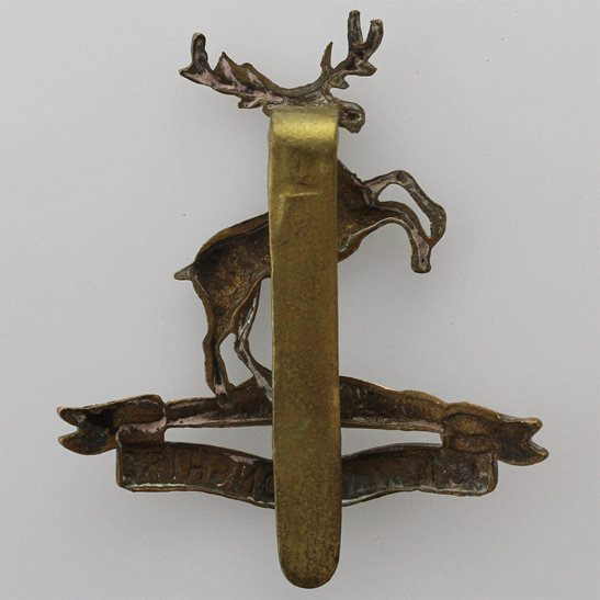 additional image for WW1 Huntingdonshire Cyclist Battalion Army Corps (Cyclists) Cap Badge