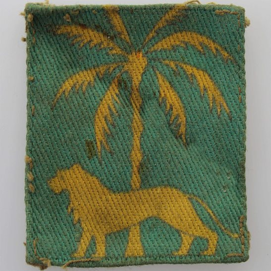 WW2 Singapore Dristict PRINTED Cloth Formation Sign Patch Badge