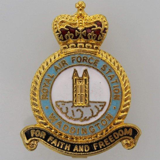 RAF Squadrons Waddington Airport Station Royal Air Force RAF Lapel Badge
