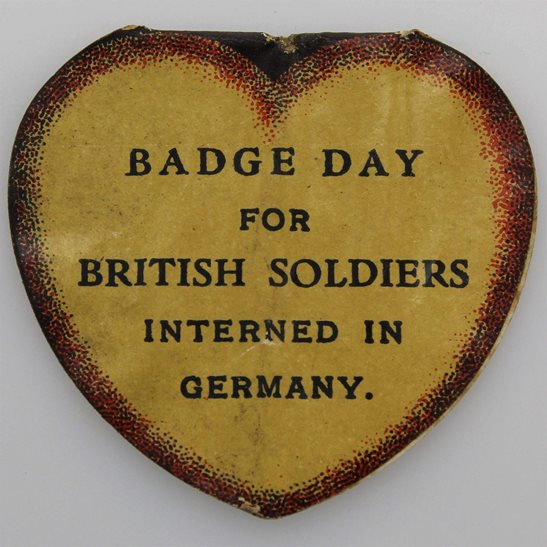 additional image for WW1 British POWs Soldiers Interned In Germany Comforts Flag Day Fundraising Pin Badge