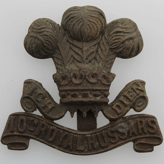10th Royal Hussars 10th Royal Hussars Regiment Cap Badge