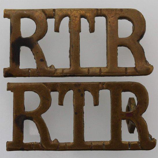 Royal Tank Regiment WW2 Royal Tank Regiment RTR Shoulder Title PAIR