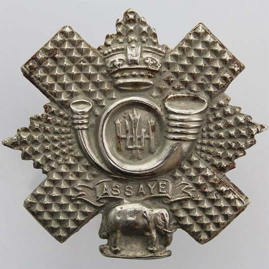 Highland Light Infantry VICTORIAN Highland Light Infantry HLI Scottish Regiment Collar Badge - Queen Victoria Crown