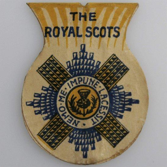 Royal Scots WW1 Scottish Royal Scots Regiment Flag Day Fundraising Pin Badge