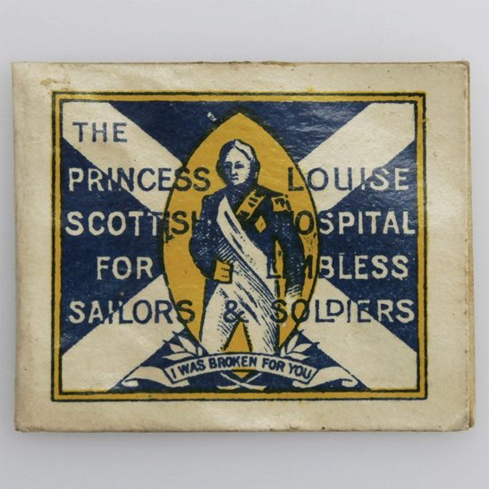 WW1 Scottish Hospitals for Limbless Sailors & Soldiers Flag Day Fundraising Pin Badge
