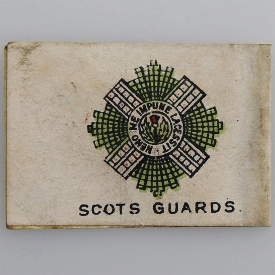 Royal Scots WW1 Scots Guards Regiment Scottish Flag Day Fundraising Pin Badge