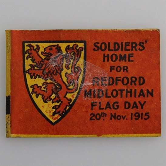 additional image for WW1 Scottish Soldiers Home 1915 Redford Midlothian Flag Day Fundraising Pin Badge