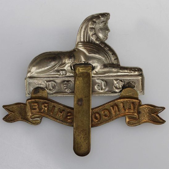 additional image for WW1 Lincolnshire Regiment Cap Badge