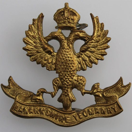 Lanarkshire Yeomanry Lanarkshire Yeomanry Scottish Regiment Collar Badge