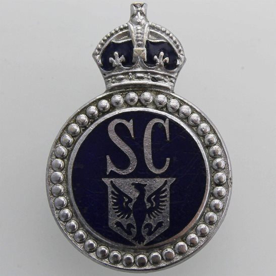 WW2 East Riding of Yorkshire Police Special Constabulary Constable's Lapel Badge