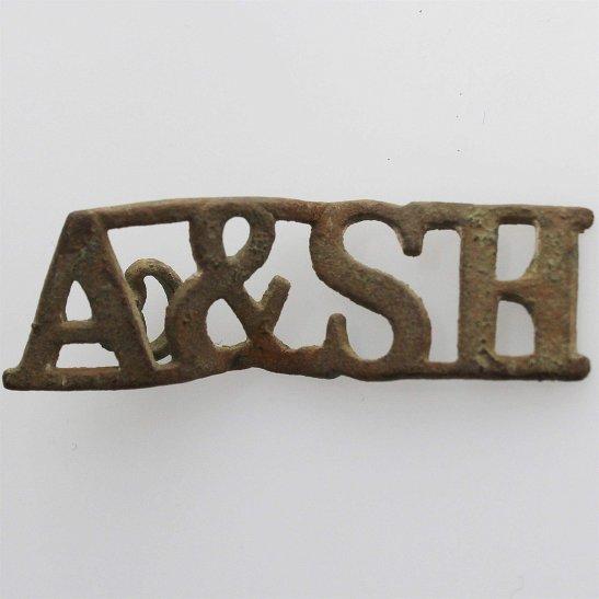 Argyll and Sutherland Highlanders UK Dug Detecting Find - WW1 Argyll and Sutherland Highlanders Regiment Relic Shoulder Title