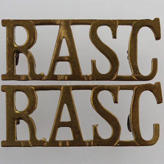 Royal Army Service Corps RASC Royal Army Service Corps RASC Shoulder Title PAIR