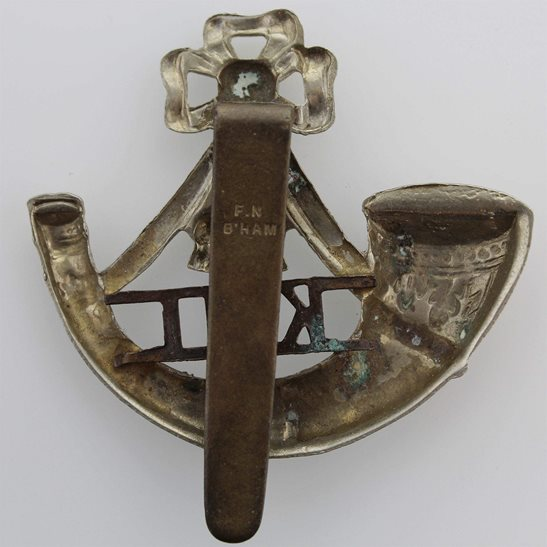 additional image for Kings Shropshire Light Infantry KSLI Regiment (King's) Cap Badge - F.N. B'HAM