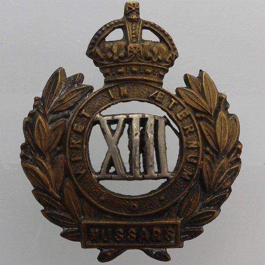 13th Hussars 13th Hussars Regiment Collar Badge