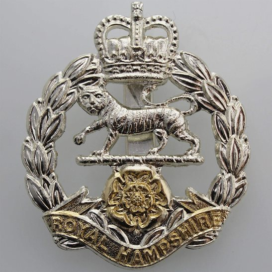 Hampshire Regiment Hampshire Regiment Staybrite Anodised Cap Badge - Staybright