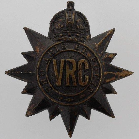 WW2 Canadian Army WW2 Canadian Victoria Rifles of Canada VRC Regiment Cap Badge