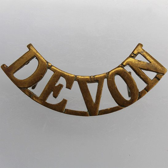 Devonshire Regiment Devonshire Regiment (Devon) Shoulder Title
