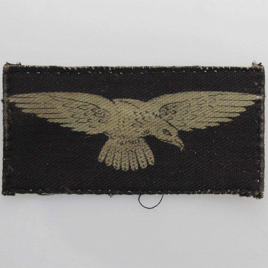 Royal Air Force RAF WW2 Royal Air Force RAF Eagle PRINTED Cloth Shoulder Title Badge Flash