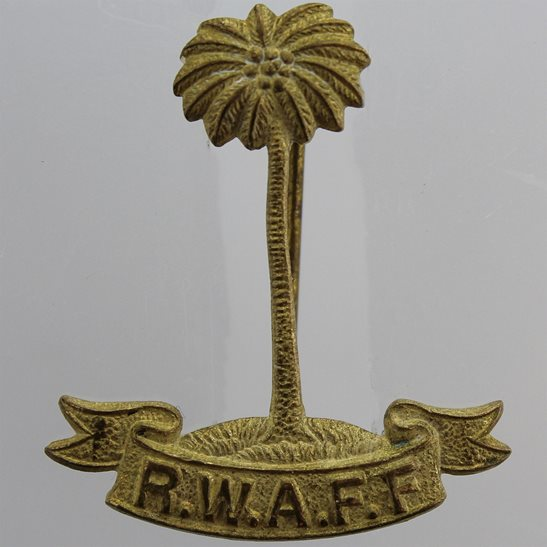 Royal West African Frontier Force RWAFF Royal West African Frontier Force RWAFF Sweetheart Brooch Badge