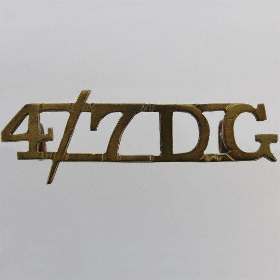 4th/7th Royal Dragoon Guards 4th / 7th Royal Dragoon Guards Regiment 4th/7th Shoulder Title