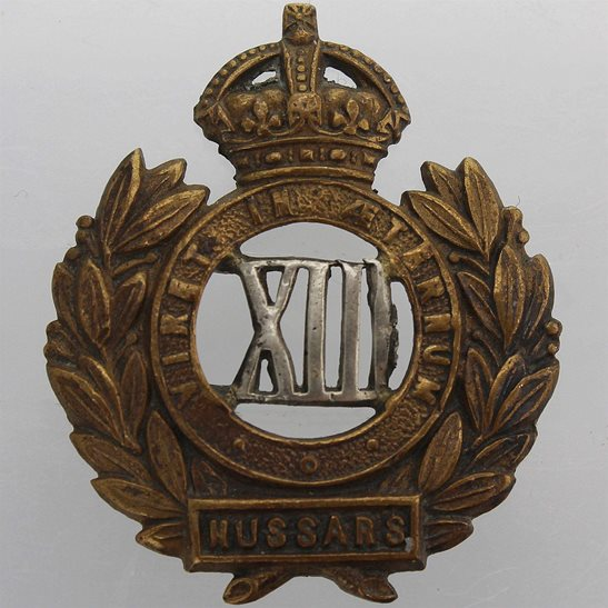 13th Hussars 13th Hussars Regiment Collar Badge