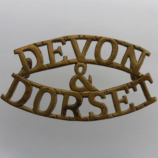Devon and Dorset Devonshire and Dorset Regiment Shoulder Title