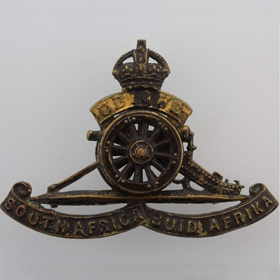South African Army WW2 South African Army Artillery Regiment Corps Africa Cap Badge