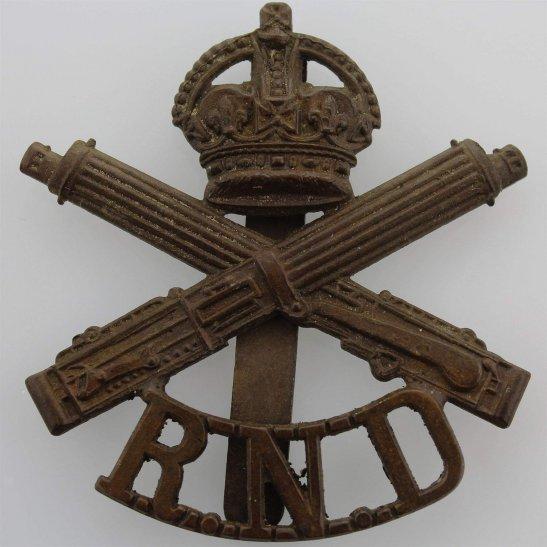 Machine Gun Corps MGC WW1 Machine Gun Corps MGC Royal Naval Division RND Cap Badge